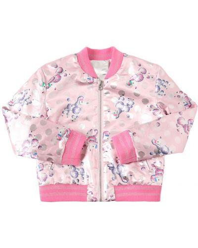 Розовая куртка двусторонняя Little Marc Jacobs