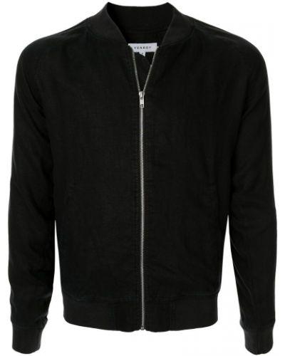 Куртка черная льняная Venroy