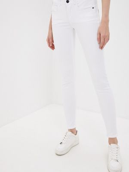 Белые джинсы-скинни с пайетками Tiffosi