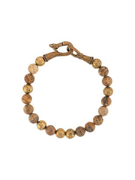 Brązowa złota bransoletka ze złota John Varvatos