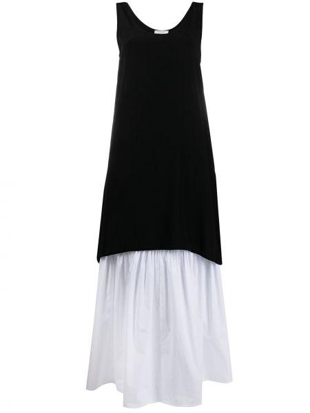 Шелковое белое платье без рукавов SociÉtÉ Anonyme