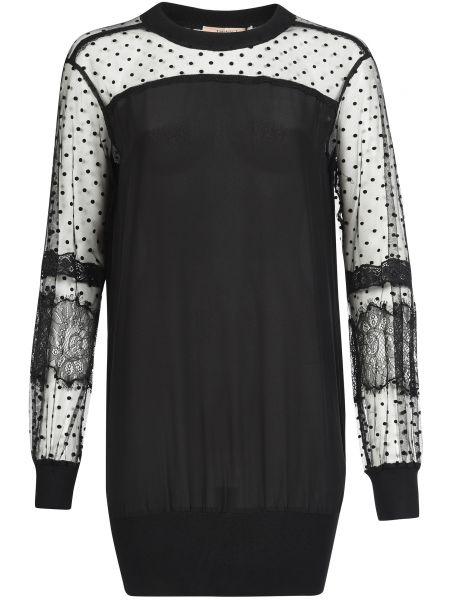 Шелковое платье - черное Twin-set
