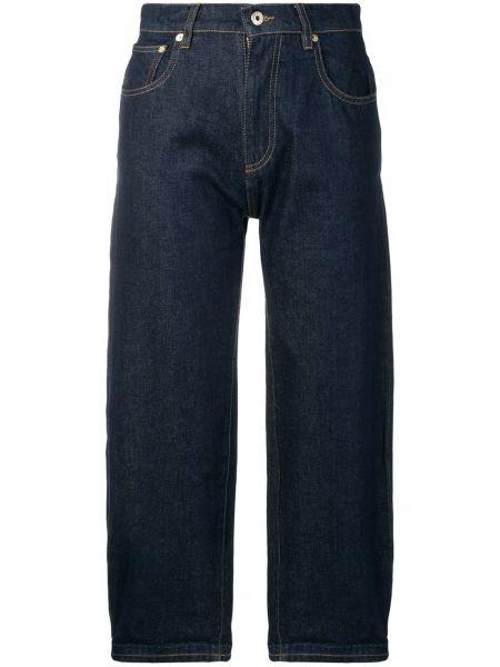 Niebieskie jeansy z wysokim stanem bawełniane Carven