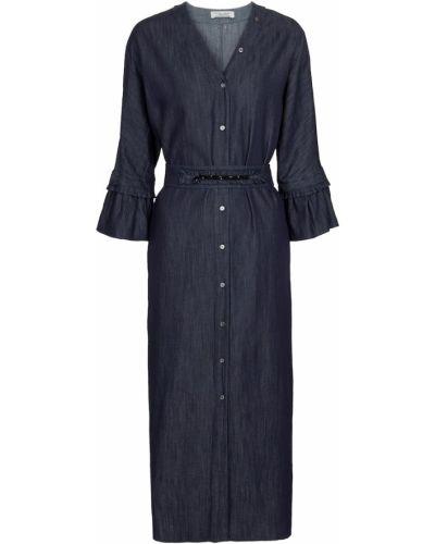 Хлопковое платье макси - синее 's Max Mara