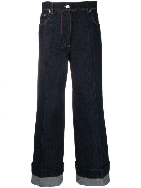 Синие широкие джинсы с высокой посадкой на молнии Jw Anderson