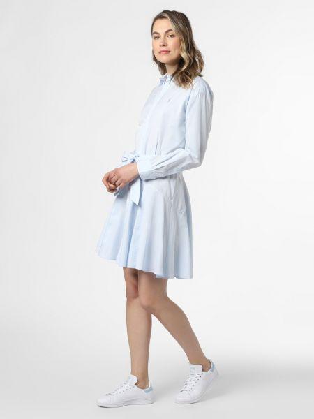 Klasyczna niebieska sukienka Polo Ralph Lauren