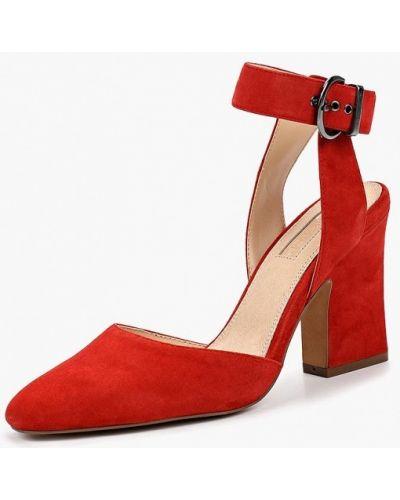 Босоножки на каблуке красный Topshop