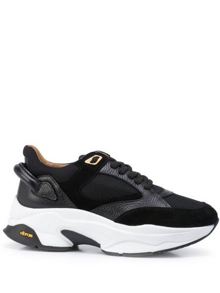 Czarne sneakersy koronkowe Buscemi
