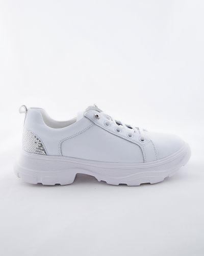 Кожаные белые ботинки Sidestep