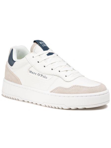 Buty sportowe skorzane - białe Marc O'polo