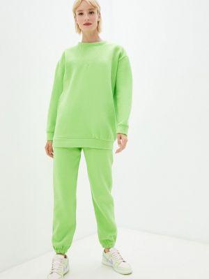 Зеленый спортивный костюм осенний Fadas