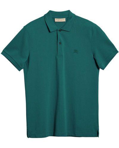 Рубашка с короткими рукавами с вышивкой хлопковая Burberry