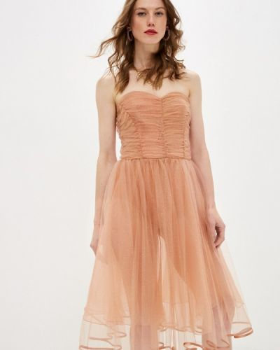Бежевое вечернее платье Elisabetta Franchi