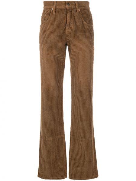 Bawełna brązowy klasyczne spodnie z kieszeniami bezpłatne cięcie Gucci