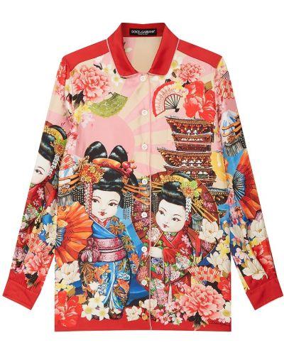 Блузка с широкими манжетами на пуговицах Dolce&gabbana