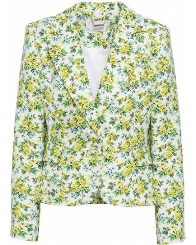 Льняной желтый пиджак на пуговицах Zimmermann