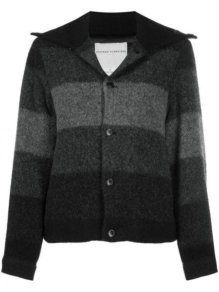 Серая стеганая куртка с воротником Stephan Schneider