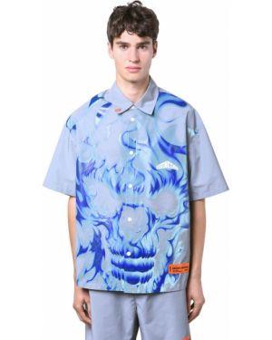 Klasyczna klasyczna koszula z printem Heron Preston