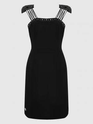 Черное платье миди Philipp Plein