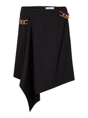 Wełniany czarny spódnica przycięte Givenchy