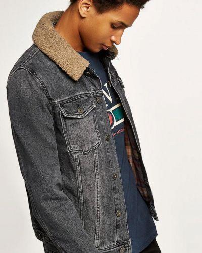 Серая джинсовая куртка Topman