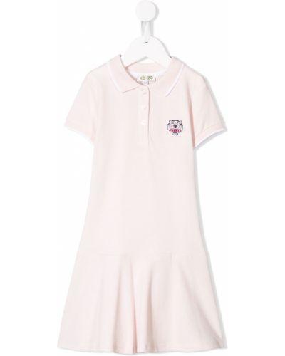 Różowa klasyczna sukienka Kenzo Kids