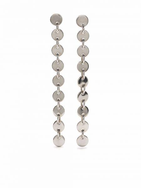 Серебряные серьги винтажные Hermès