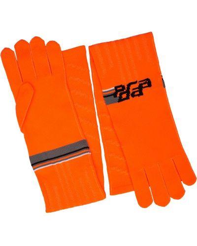 Перчатки оранжевые Prada