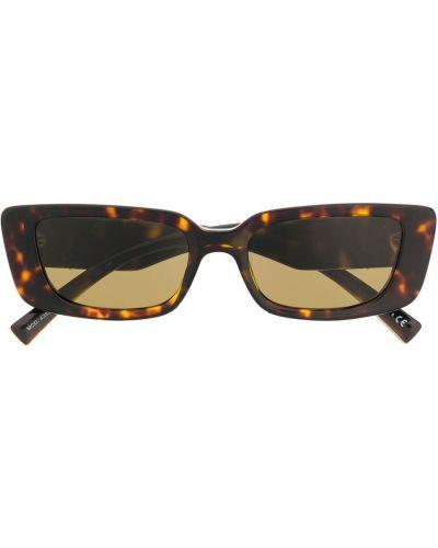 Золотистые коричневые солнцезащитные очки металлические Versace Eyewear
