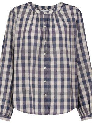 Бархатная рубашка - синяя Velvet