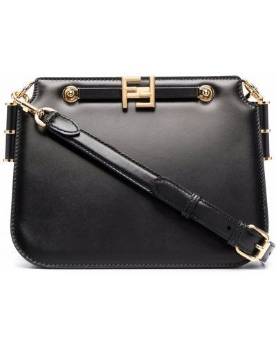 Черная сумка тоут Fendi