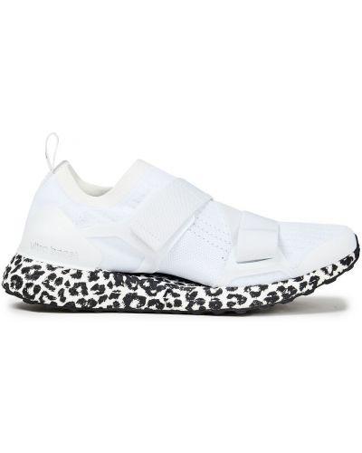 Текстильные белые кроссовки с принтом Adidas By Stella Mccartney