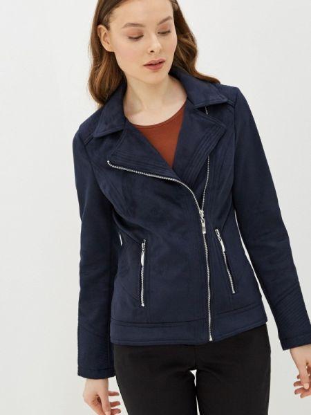 Кожаная куртка весенняя синий Wallis