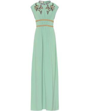 Платье с вышивкой с бисером Gucci