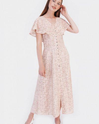 Прямое бежевое платье Bessa