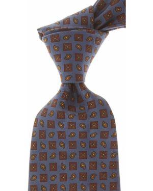 Szary krawat z jedwabiu Marinella