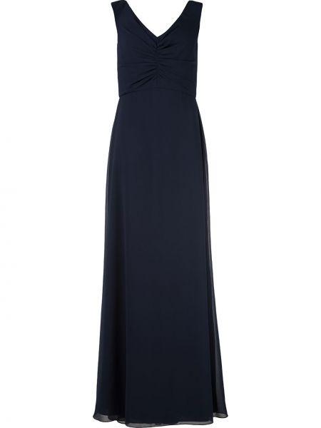 Расклешенное приталенное вечернее платье на молнии Amsale