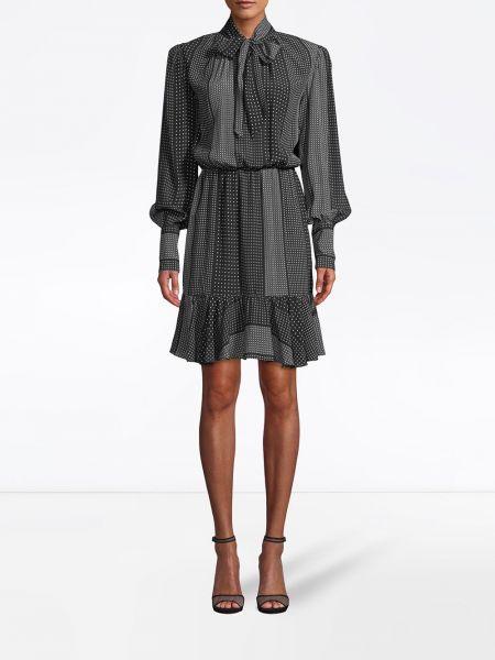 Шелковое платье макси - черное Nicole Miller