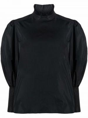 Черная блузка из полиэстера Alberta Ferretti