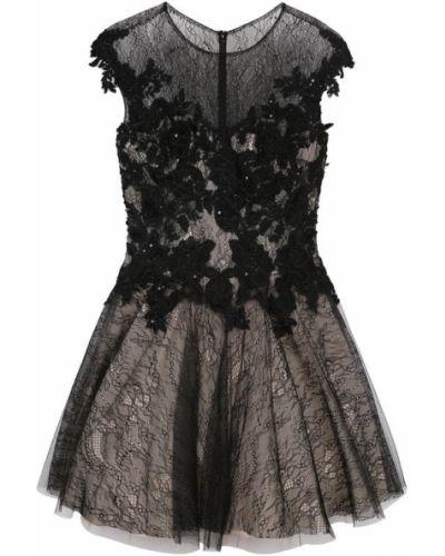 Платье мини с цветочным принтом солнце приталенное Basix Black Label