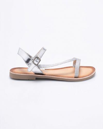 Сандалии серебряного цвета Marco Tozzi