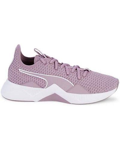 Текстильные кроссовки на каблуке на шнурках Puma