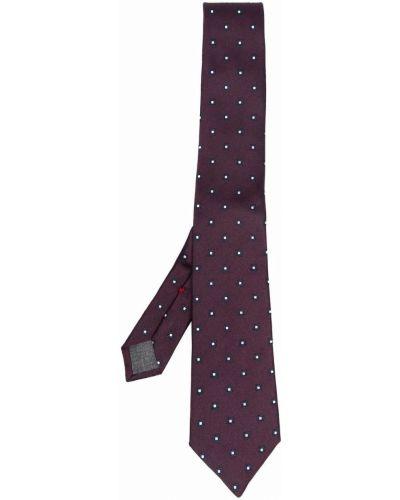 Krawat z jedwabiu - fioletowy Brunello Cucinelli