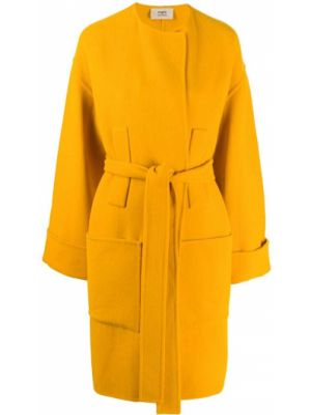 Длинное пальто шерстяное горчичный Ports 1961