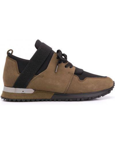 Кроссовки на шнуровке зеленый Mallet Footwear