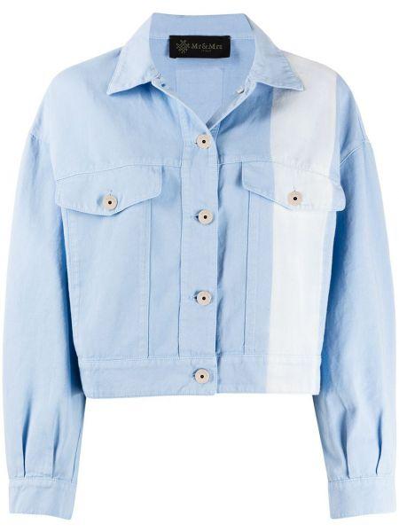 Хлопковая джинсовая куртка - синяя Mr & Mrs Italy