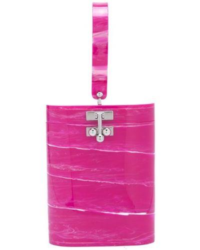 Розовая сумка Edie Parker