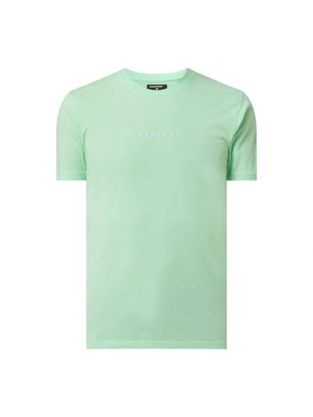 Zielony t-shirt bawełniany z printem Raizzed