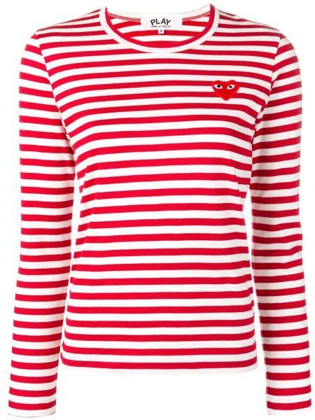 Bawełna prosto długo koszula z haftem Comme Des Garcons Play