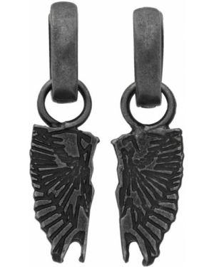 Kolczyki metal czarny Marcelo Burlon County Of Milan